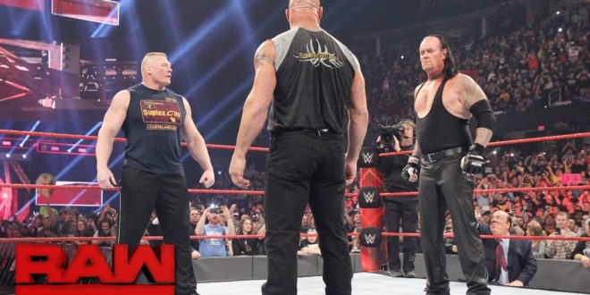 Bill Goldberg, Brock Lesnar, Undertaker on Monday Night Raw - Wrestling Examiner