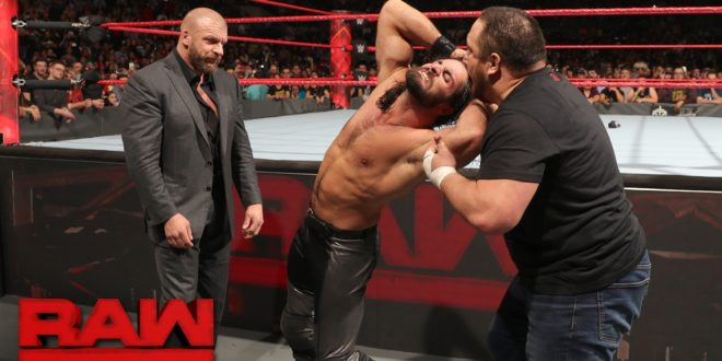 Triple H Samoa Joe with Seth Rollins