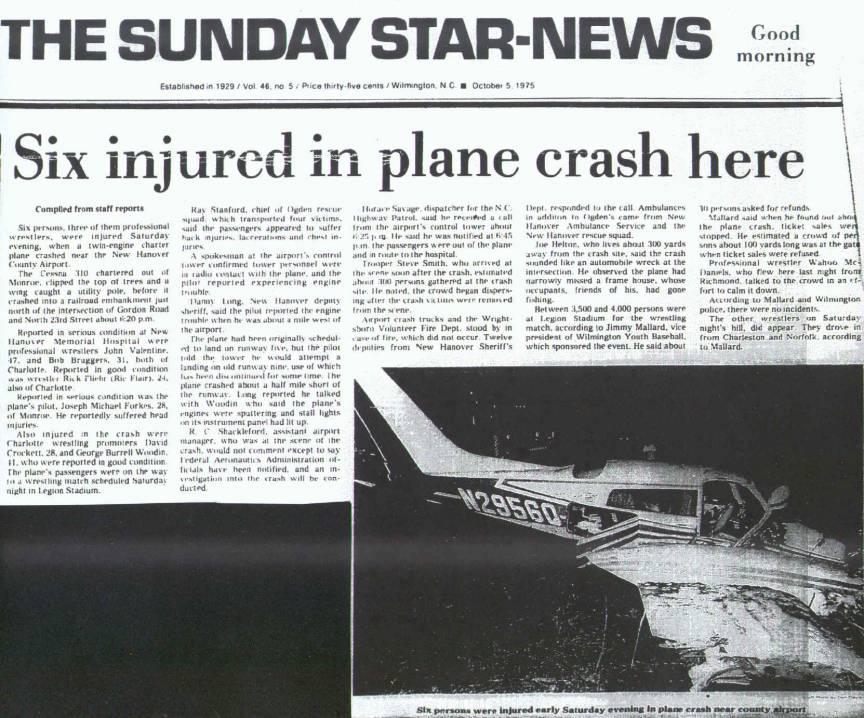 Ric Flair Plane Crash - Wrestling Examiner