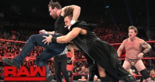 Dean Ambrose bulldogs The Miz on Raw - Wrestling Examiner