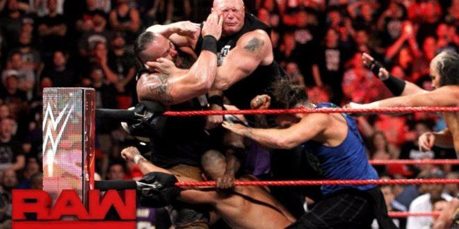 Samoa Joe, Brock Lesnar, Braun Strowman, and Roman Reigns on Raw - Wrestling Examiner