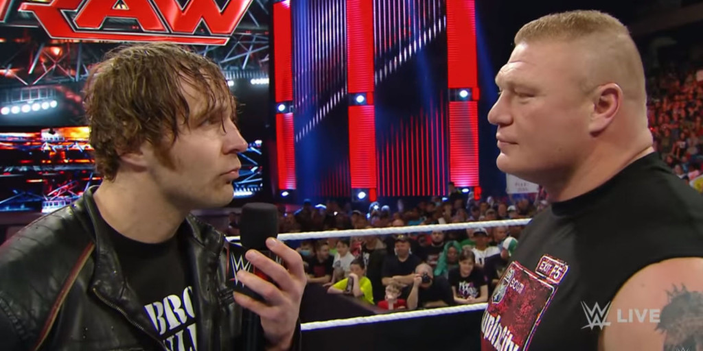 Dean Ambrose to face Brock Lesnar at Wrestlemania - WrestlingExaminer.com