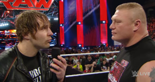 Dean Ambrose to face Brock Lesnar at Wrestlemania - Wrestling Examiner - WrestlingExaminer.com