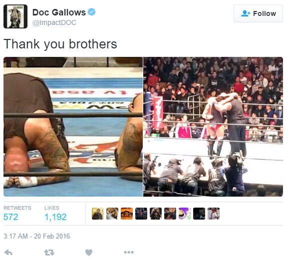 Doc Gallows Tweet - WrestlingExaminer.com