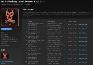 Lucha Underground Finally on iTunes - WrestlingExaminer.com