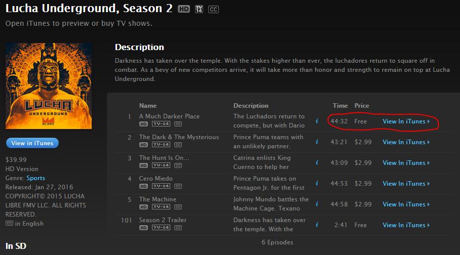 Lucha Underground season 2 episode 1 free - WrestlingExaminer.com