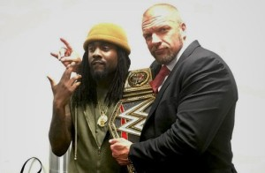 Wale with Triple H at Raw - Wrestling Examiner - WrestlingExaminer.com