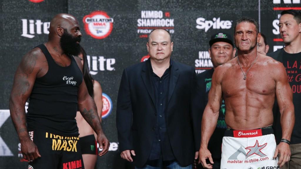 Ken Shamrock and Kimbo Slice - WrestlingExaminer.com