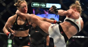 Holly Holm Kicks Ronda Rousey - Wrestling Examiner - WrestlingExaminer.com