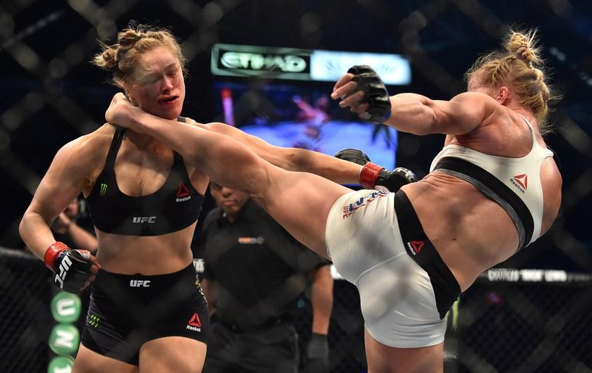 Holly Holm Kicks Ronda Rousey - WrestlingExaminer.com