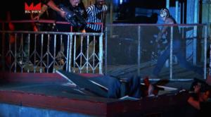 Rey Mysterio Slams Matanza through bleachers - Wrestling Examiner