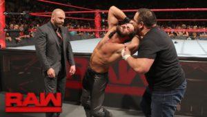 Triple H Samoa Joe with Seth Rollins