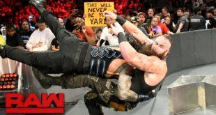 Roman Reigns Spears Braun Strowman - Wrestling Examiner