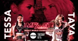 Tessa Blanchard Vs Taya Valkyrie For IMPACT World Heavyweight Title