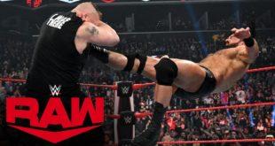 Drew McIntyre Claymore Kicks Brock Lesnar