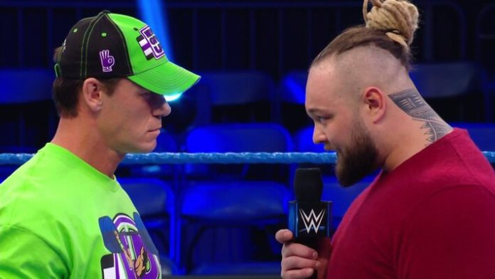John Cena and Bray Wyatt Face to Face