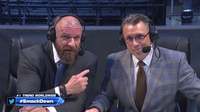 Triple H with Michael Cole