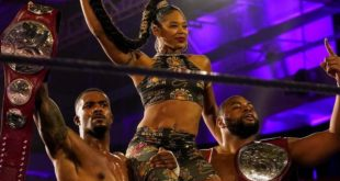 Bianca Belair with The Street Profits - Wrestling Examiner
