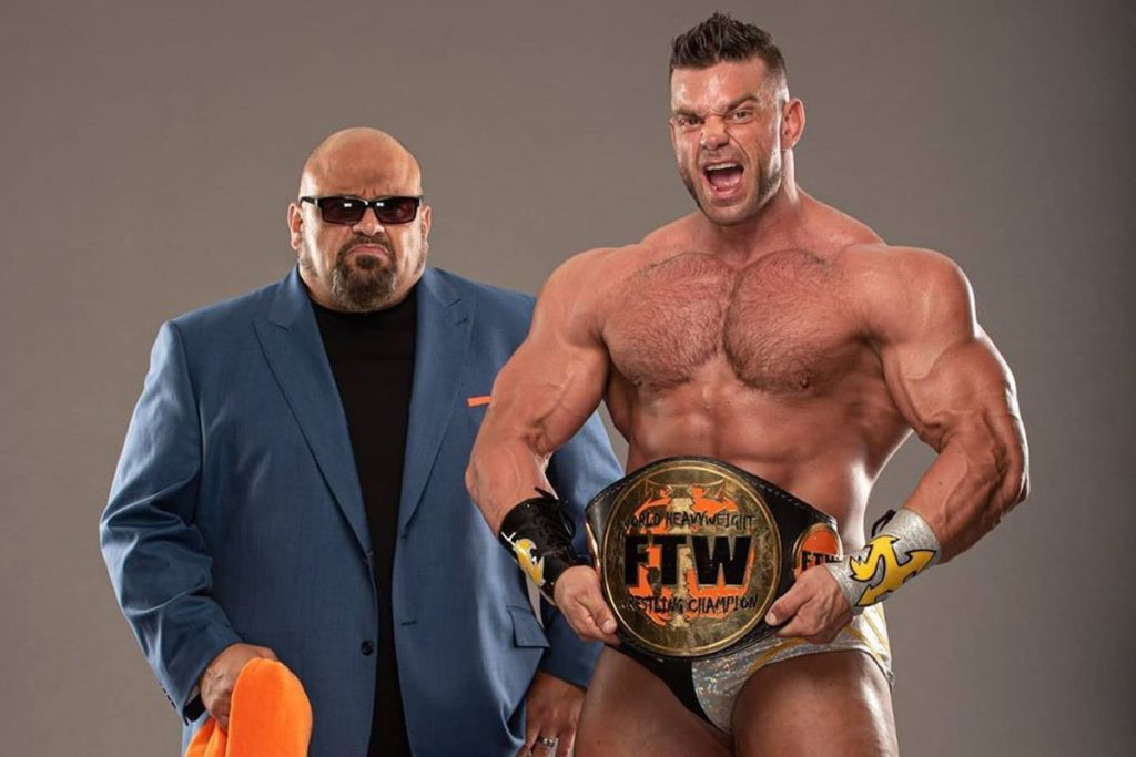 Brian Cage with Taz - Wrestling Examiner